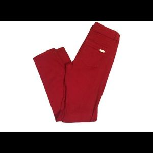 White House Black Market red jeans sz 0